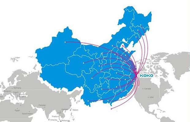 上海科科全球市场分布图