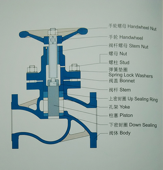 柱塞阀软密封结构图