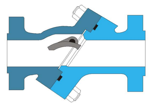 斜盘式止回阀结构图