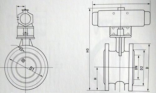 气动蝶阀结构图