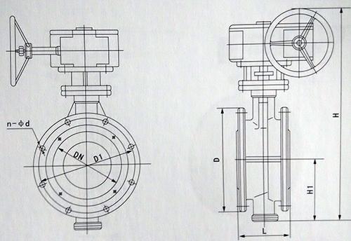蜗轮蝶阀结构图