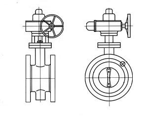 d941x电动法兰蝶阀结构示意图
