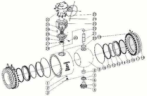 固定球阀结构示意图
