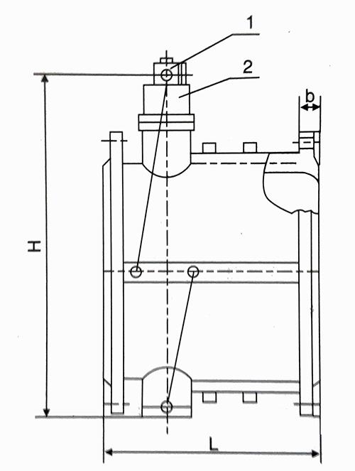 hh49x止回阀结构图