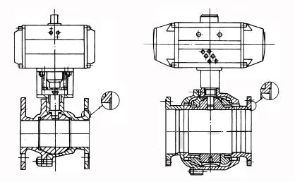 气动球阀结构示意图