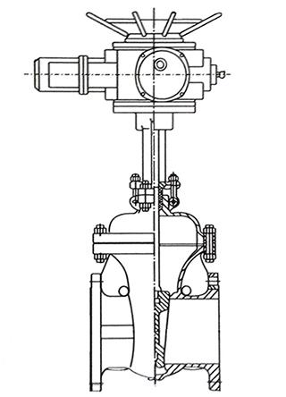 齿轮闸阀结构示意图
