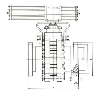 锁渣阀结构示意图