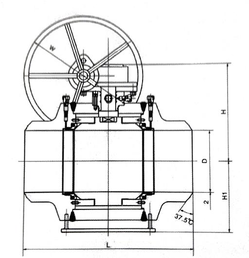 全焊接球阀构造示意图