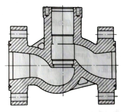 轴流平衡式节流截止阀S形垂直通道