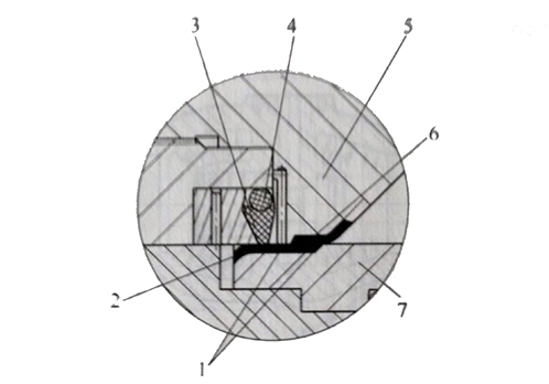 轴流平衡式节流截止阀阀座密封副