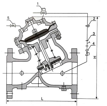 电动遥控阀结构示意图
