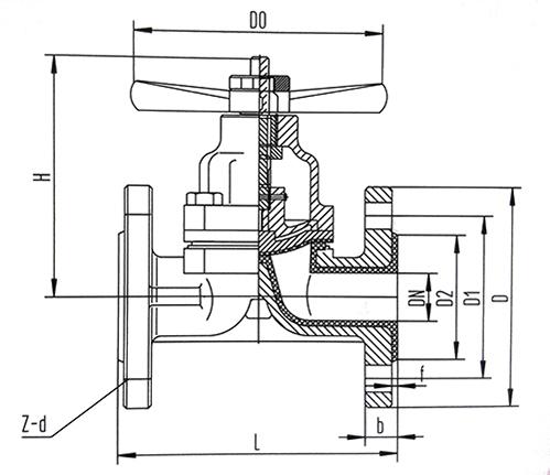 衬氟隔膜阀结构示意图