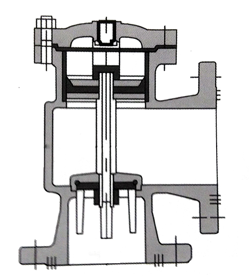 h142x液压水位控制阀结构示意图