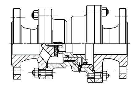 y43x固定比例式减压阀结构示意图