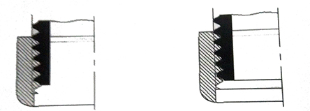密封螺纹连接的密封点在啮合螺纹的牙上