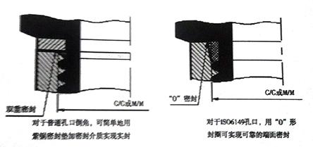 紧固螺纹通过固定端面结构实现密封连接的两个实例