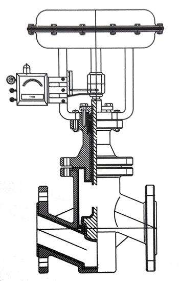 气动调节阀结构示意图