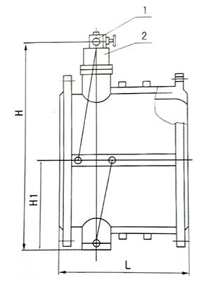 hh49x-10微阻缓闭止回阀结构图