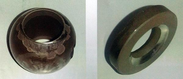 球体及阀座喷涂层剥落