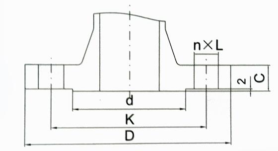 钢制管法兰结构示意图
