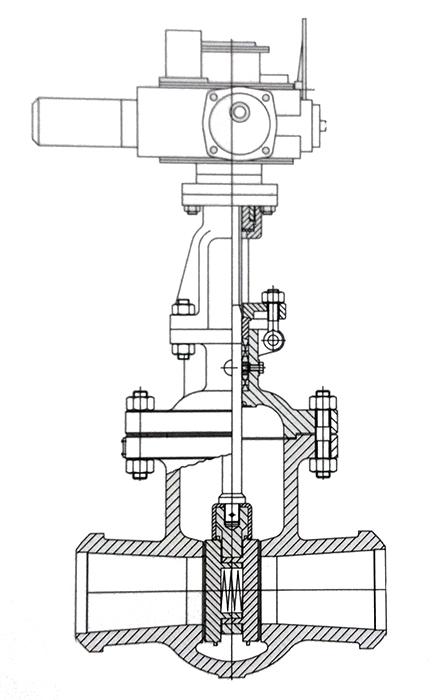 水封闸阀结构示意图
